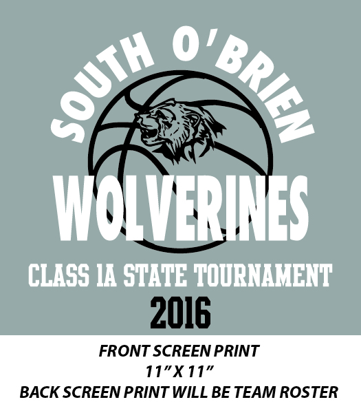 South O'Brien Boys Basketball State Tournament Tee - WEBSTORE CLOSED