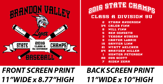 Brandon Valley Champs - WEBSTORE CLOSED