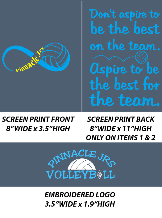 Pinnacle Volleyball Club Fans - WEBSTORE CLOSED