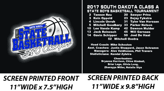 Sioux Falls Christian Boys Basketball 2017 State Tourney Tee - WEBSTORE CLOSED