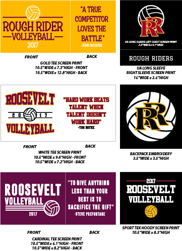 RHS Volleyball 2017 Players - WEBSTORE CLOSED