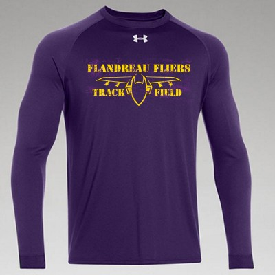 Flandreau Fliers T&F 02 Mens and Ladies Under Armour Longsleeve T Shirt
