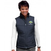 SDSU Football 15 Port Authority Ladies Puffy Vest