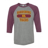 Harrisburg 05 Bella  Unisex ¾ Sleeve Tshirt