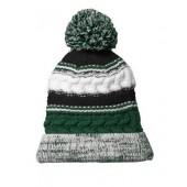 Pom Pom Beanie Hats 01 Forest Green