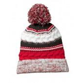Pom Pom Beanie Hats 07 True Red