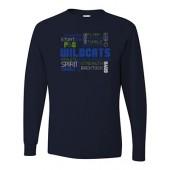 Bling 07 JERZEES - Heavyweight Blend™ 50/50 Long Sleeve T-Shirt