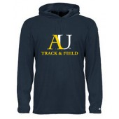 Augustana Track & Field 04 Badger Poly LS Shirt with Hood