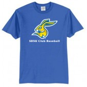 SDSU Club Baseball 01 50/50 Cotton Poly Blend Short Sleeve