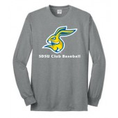 SDSU Club Baseball 02 50/50 Cotton Poly Blend Long Sleeve