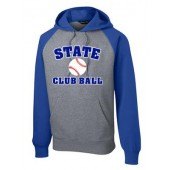 SDSU CLub Baseball 12 Sport Tek Raglan Hooded Sweatshirt