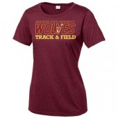 NSU Track and Field 02 Sport-Tek® Ladies Heather Contender™ Scoop Neck Tee