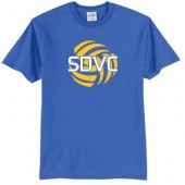 SD Club Volleyball 03 Adult and Youth Port and Co 50/50 Blend Short Sleeve T Shirt