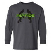 Riptide Wrestling 13 Gildan Youth Heavy Cotton Long Sleeve