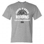 South O'Brien Boys Basketball State Tournament Tee 01  Gildan 50/50 Short Sleeve Tee