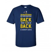 Augustana Basketball NSIC 01 Champs Short Sleeve t-shirt- PC55