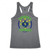 Sparks Softball 04 Badger Heather Ladies Tank