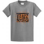 Huron Track and Field 03 Port and Co Essential Short Sleeve T Shirt