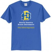 SDSU Dairy Science 01 Port & Co 50/50 Short Sleeve T-shirt