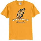 Sioux Valley Track and Field 01 Port and Co 50/50 Cotton Poly Blend Short Sleeve T Shirt
