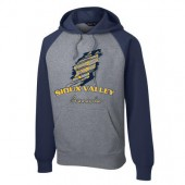 Sioux Valley Track and Field 05 Sport Tek Raglan Colorblock Hooded Sweatshirt