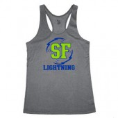 Lightning 04 Badger Heather Ladies Tank
