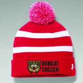 Bobcat Soccer_16 12 Adult Under Armour Pom Pom Beanie