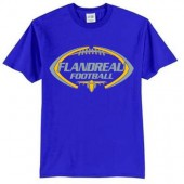 Flandreau Football 2016 01 50/50 Cotton Poly Short Sleeve T Shirt