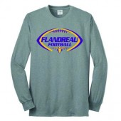 Flandreau Football 2016 02 50/50 Cotton Poly Blend Longsleeve T Shirt