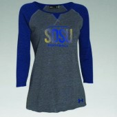SDSU Football 2016 03 Ladies Under Armour Stadium ¾ Sleeve T Shirt