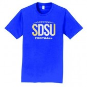 SDSU Football 2016 04 Adult and Youth Port and Co 100% Ringspun Combed Cotton T Shirt