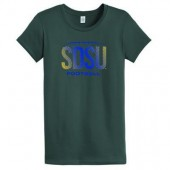 SDSU Football 2016 05 Ladies Alternative 100% Ringspun Cotton Crew