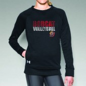 Bobcat Volleyball 2016 06 Ladies Under Armour Novelty Crewneck