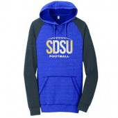 SDSU Football 2016 07 Adult District Lightweight Raglan Hoodie