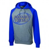 SDSU Football 2016 08 Adult Sport Tek Raglan Colorblock Hooded Sweatshirt