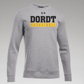 Dordt Men's Basketball Fan Gear 2017 12 UA Hustle Fleece Crew