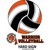 Sioux Falls Washington Volleyball Fangear 15 Warrior Yard Sign