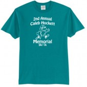 Caleb Hockett Memorial 01 Adult 50/50 Cotton Poly Blend Short Sleeve T Shirt