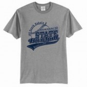 14U State Baseball 01 Adult and Youth 50/ 50 Cotton Poly Blend Short Sleeve T Shirt