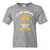 Colman-Egan Football State Champs 2016 01 Youth 50/50 Cotton Poly Blend Short Sleeve T Shirt