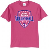 South Dakota Club Volleyball 2017 01 Youth and Adult 50/50 Cotton Poly Blend Short Sleeve T Shirt