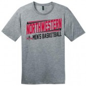 Northwestern Mens Basketball Fangear 01 District Made Short Sleeve Tee