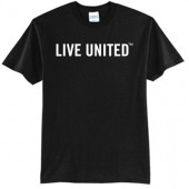 Live United 01 50/50 Cotton Poly Blend Short Sleeve T Shirt
