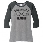Dakota Premier Hockey Bantam A & B 02 Adult (Triblend) and Youth (50/50 Blend) ¾ Sleeve T Shirt