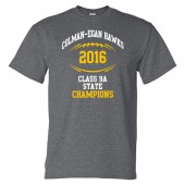 Colman-Egan Football State Champs 2016 02 Adult 50/50 Cotton Poly Blend Short Sleeve T Shirt