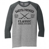 Dakota Premier Hockey 12U B Girls 02 Youth (50/50 Blend) ¾ Sleeve T Shirt