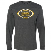 HMS Football 2017 02 Jerzees Long Sleeve Tee