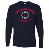 Northwestern Mens Basketball 2017 Fan Webstore 02 Jerzees Long Sleeve Tee