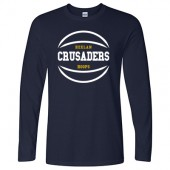 Bishop Heelan Basketball 2017 02 Adult Gildan Soft Style long sleeve