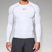 Northwestern Men's Basketball Player 02 UA Heatgear Long Sleeve Compression Tee